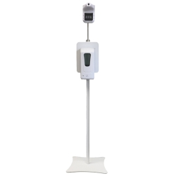 SANITIZER/THERMOMETER STAND W/